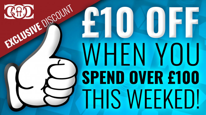 CoG DEAL: £10 OFF When you Spend over £100! This Weekend!!!!