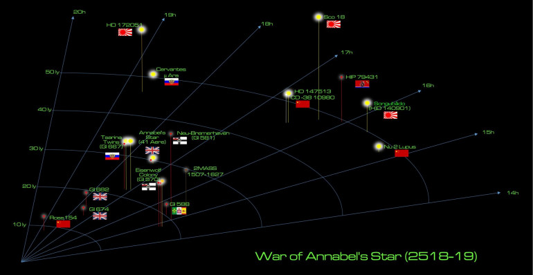 "Overall campaign area for the ongoing ""Duchess Annabel's War."""