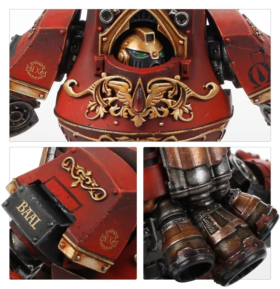 Blood Angels Legion Contemptor-Incaendius Class Dreadnought #2 - Forge World