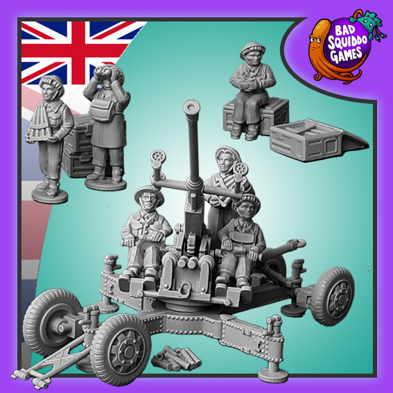 Bofors 40mm AA Gun & Crew #1 - Bad Squiddo Games