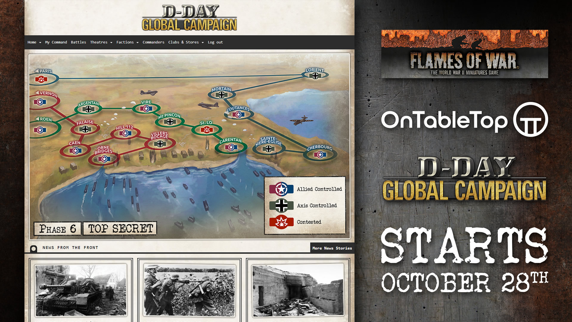 Flames Of War & Tanks! D-Day Global Campaign Launching October 28th!