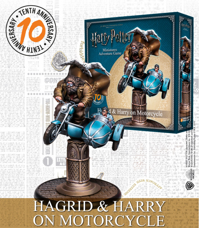Hagrid & Harry On Motorcycle - Knight Models