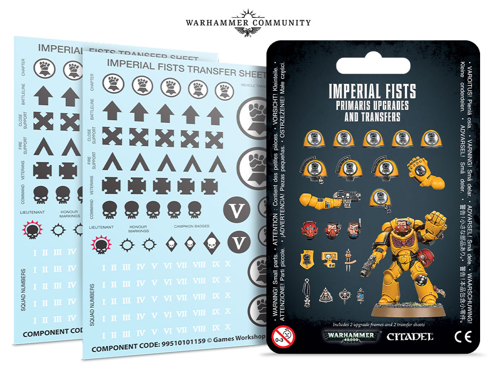 Imperial Fists Upgrade Kit - Games Workshop