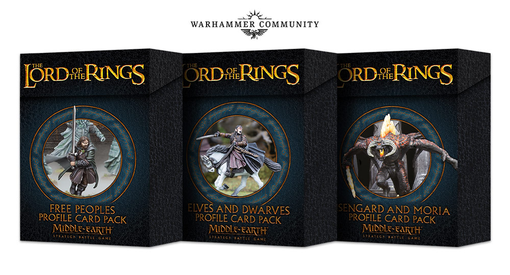 Lord Of The Rings Profile Cards - Middle-earth SBG