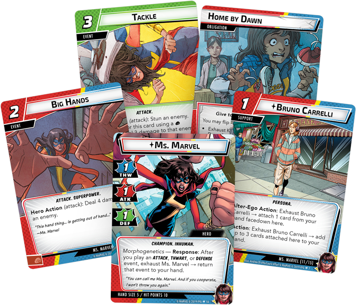 Ms Marvel Hero Pack Card Fan - FFG