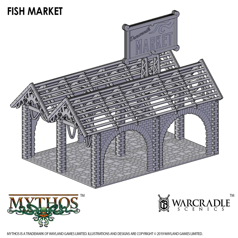 Mythos Fish Market - Warcradle Scenics