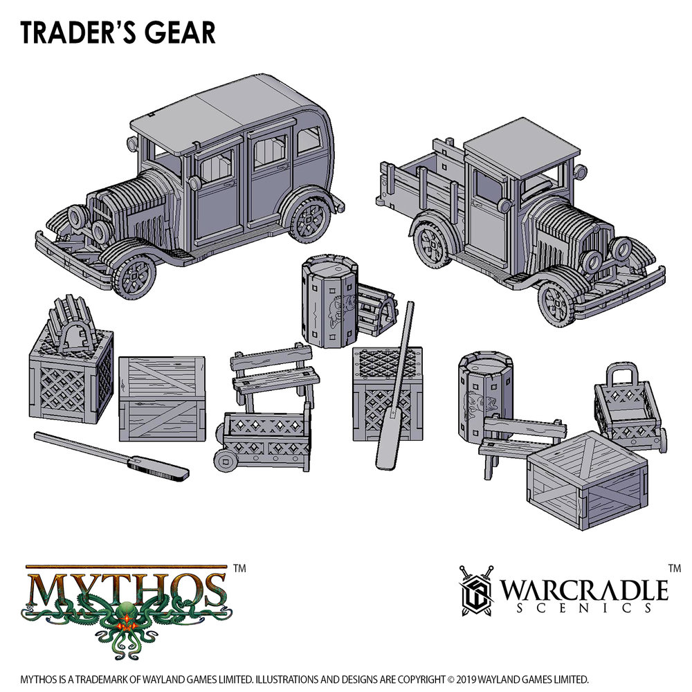 Mythos Traders Gear - Warcradle Scenics