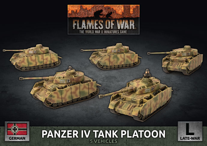 Panzer IV Tank Platoon - Flames Of War
