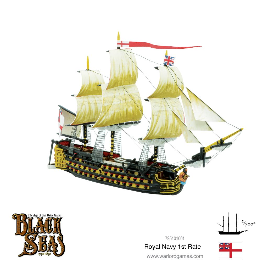 Royal Navy 1st Rate #1 - Black Seas