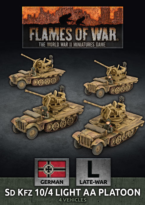 Sd Kfz 10 4 Light AA Platoon - Flames Of War