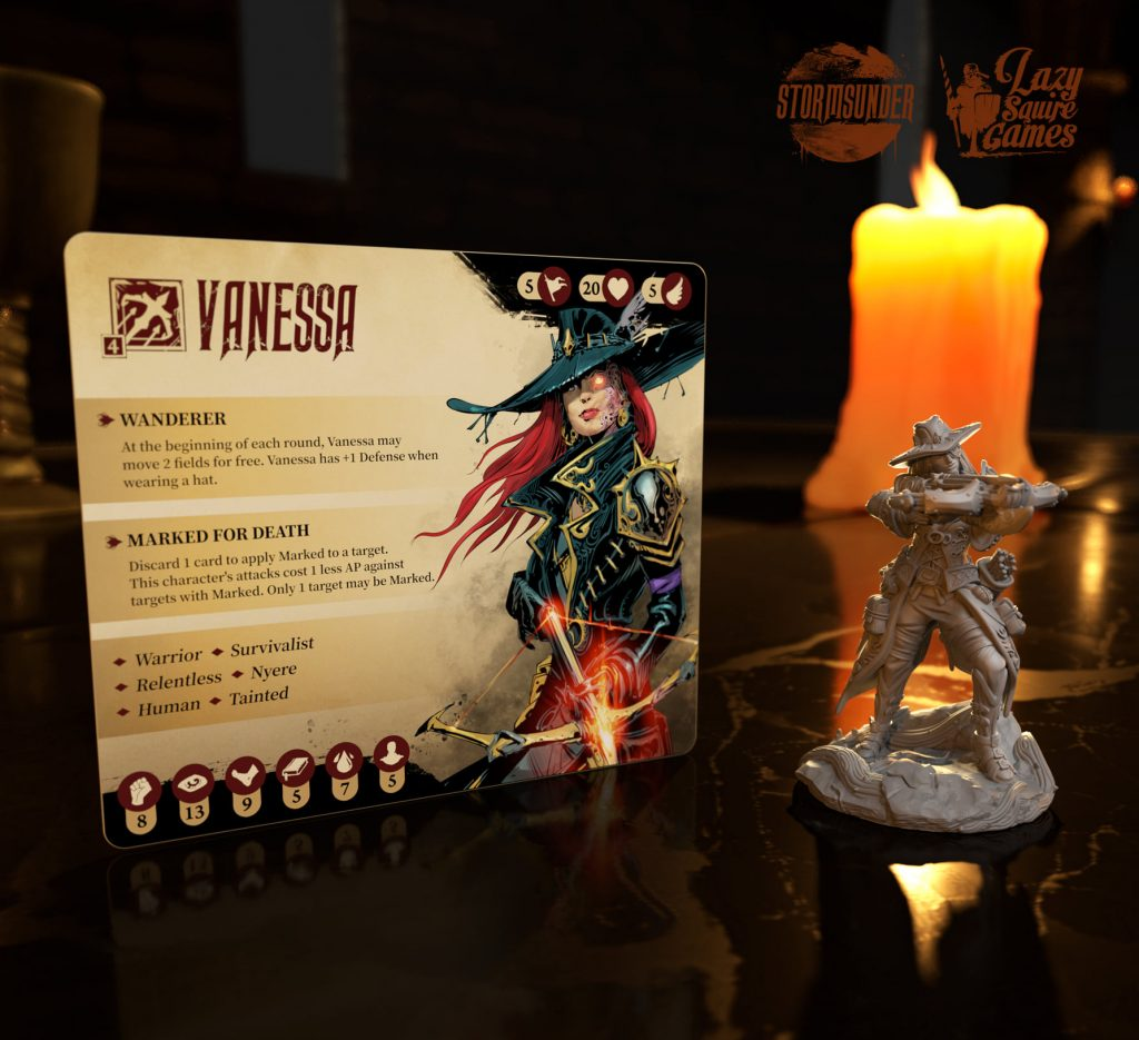 Vanessa Card & Model - Lazy Squire Games