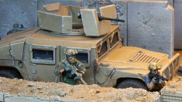 Hunker Down Behind Spectre Miniatures' HESCO Barriers