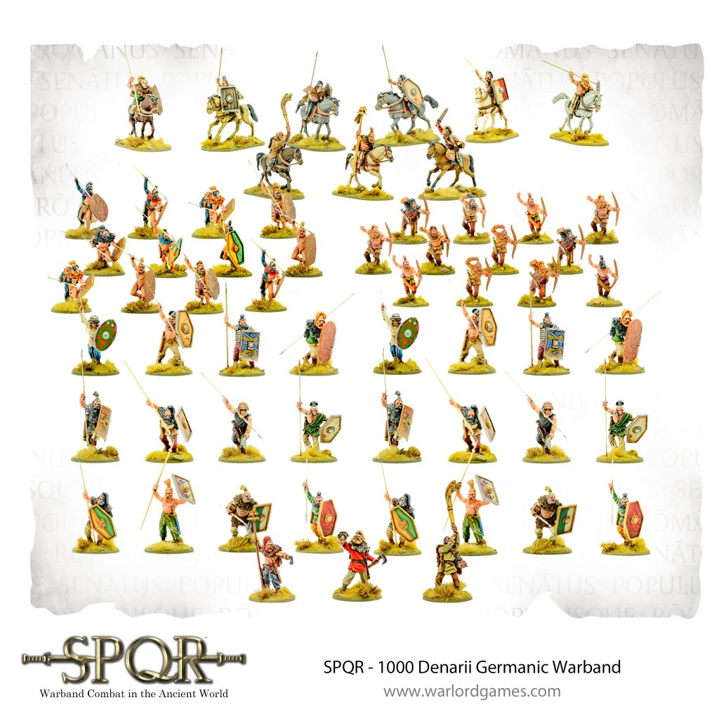 1000 Denarii Germanic Warband - Warlord Games