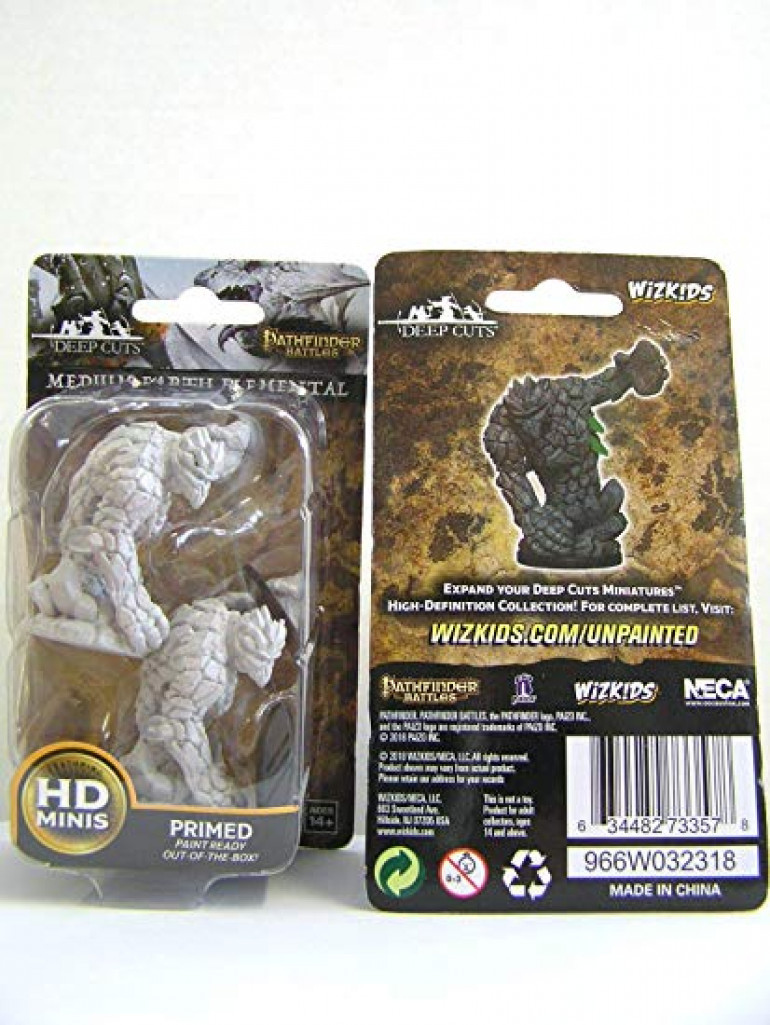 Technically called a Medium Earth Elemental, these minis are from Wiz Kids Parhfinder range.