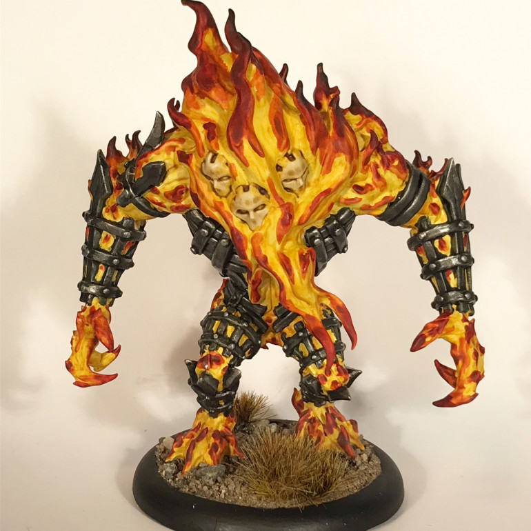 Fire Golem for flame results