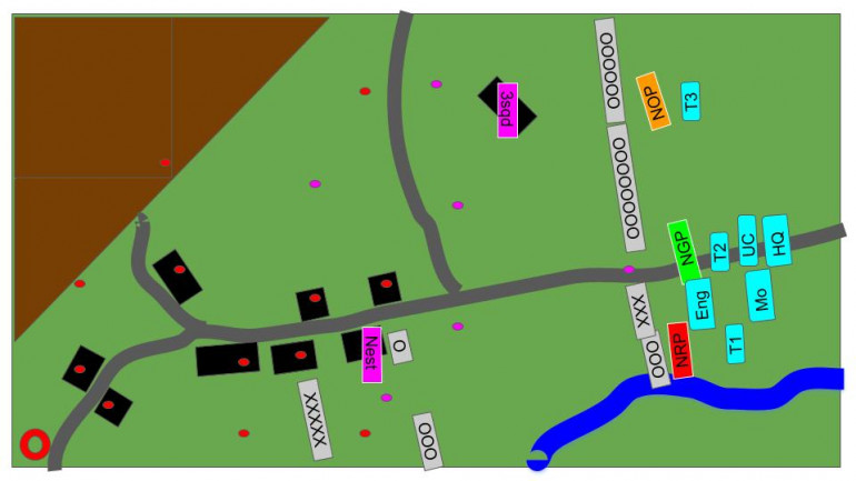 Tactical Map at the end of Turn 1