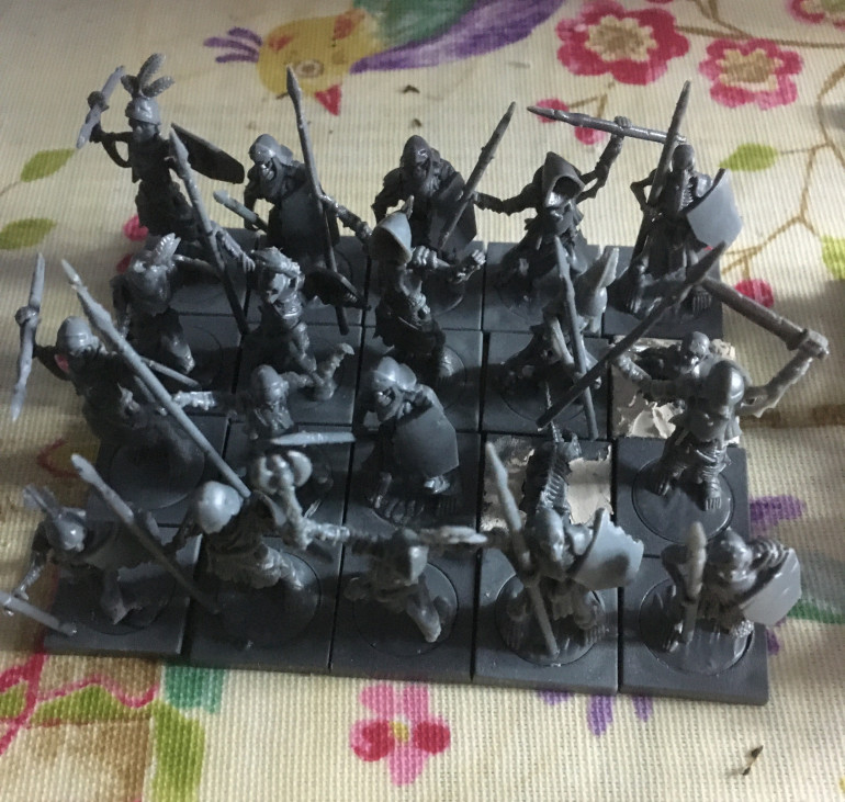 The second regiment of Skeleton Spearmen.  They have the phalanx special rule, which is very useful against cavalry and flyers.