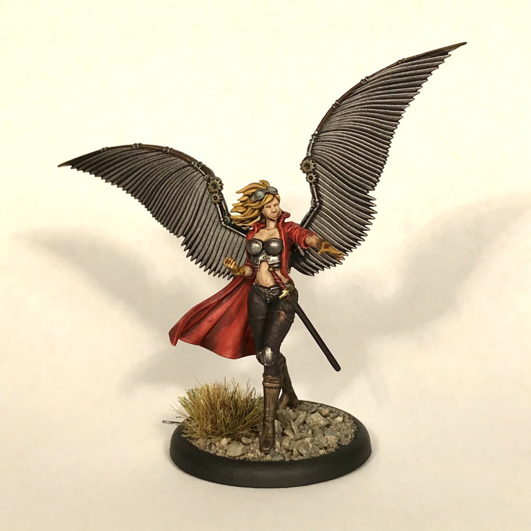 My painted Kaeris mini without awesome flamey hands