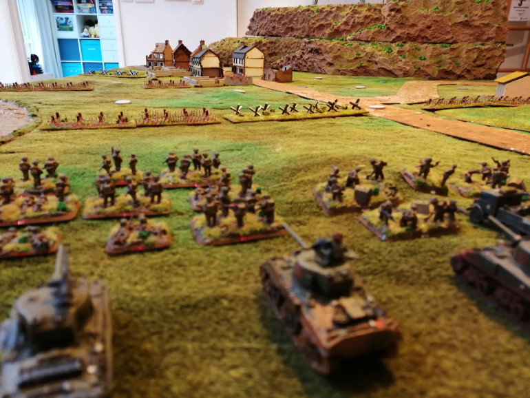 The view from the NZ left flank