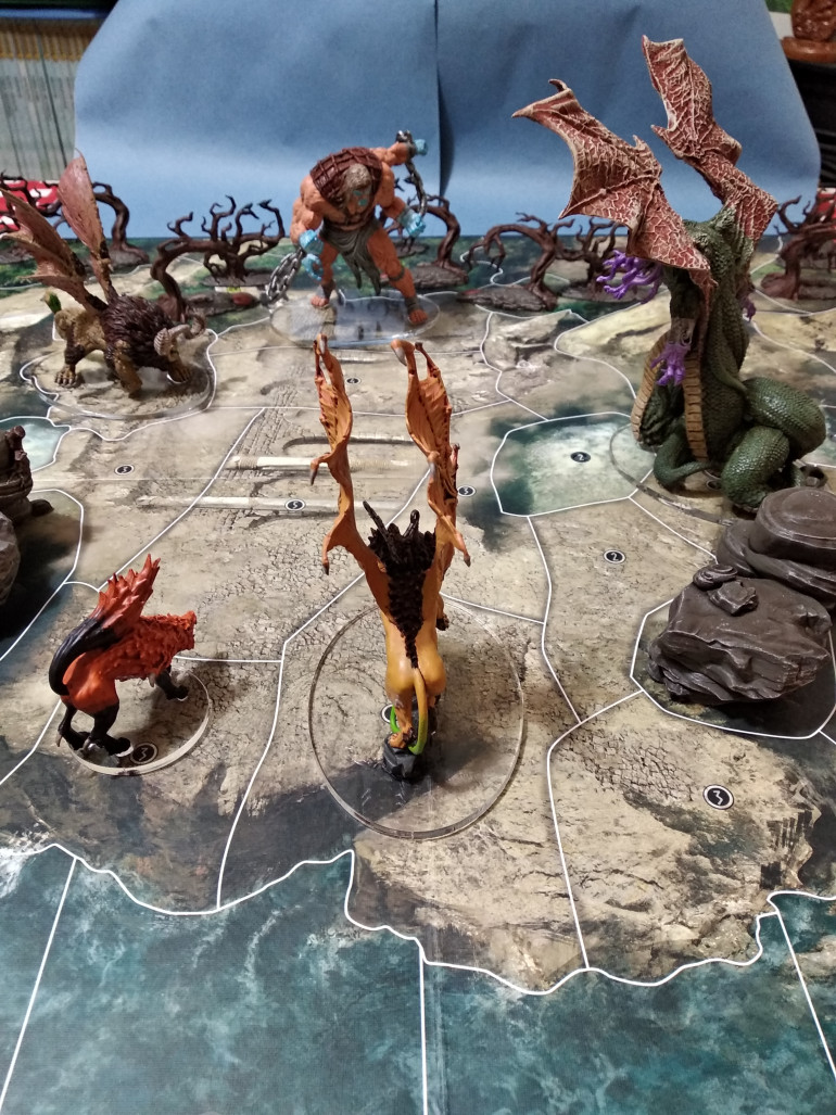 Monsters and titans stand off on Polyphemus' island
