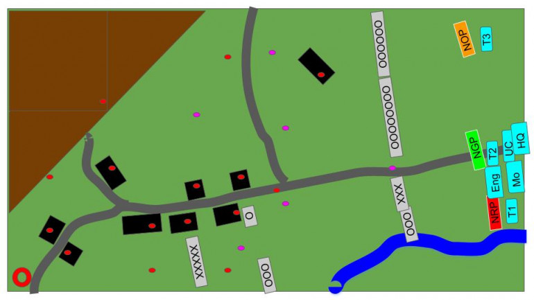 A very rough tactical view of the battlefield