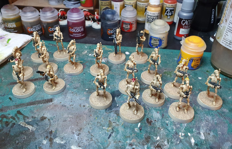 Final Drybrush and Starting the Bases