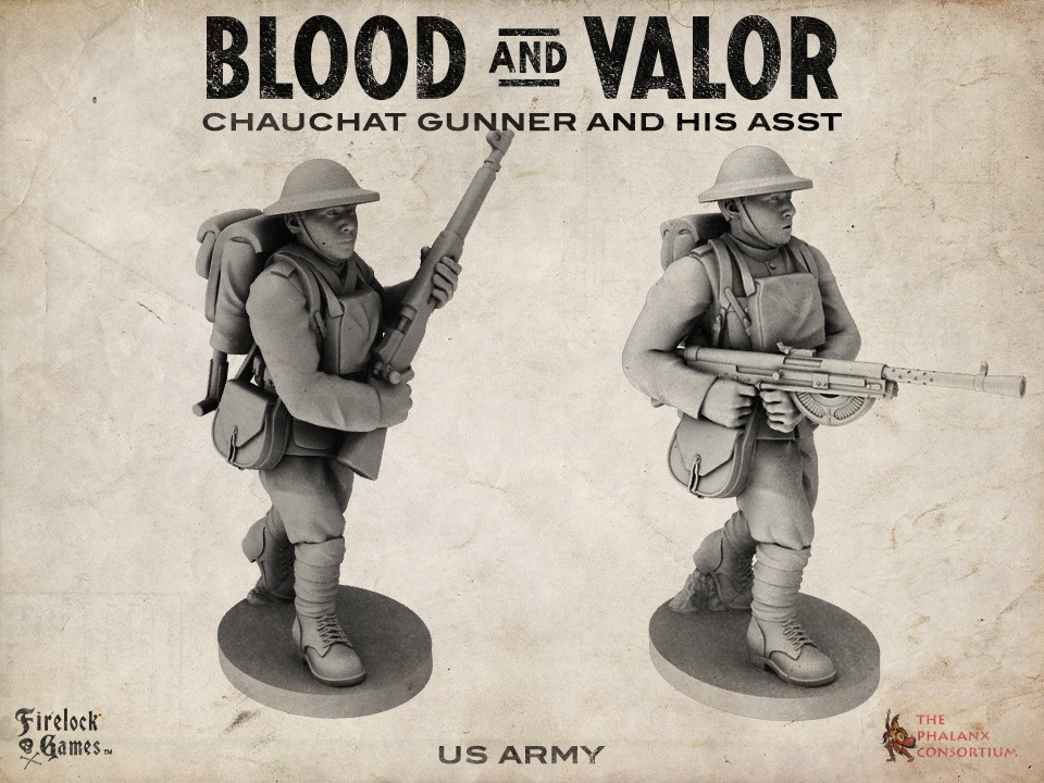 Chauchat Gunner & His Assistant - Blood & Valor