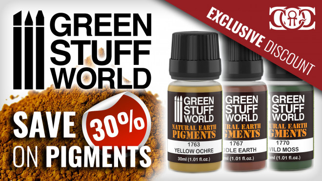 CoG Deal: 30% OFF Green Stuff World Pigments