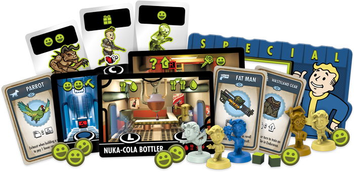 Fallout Shelter The Board Game Components - FFG