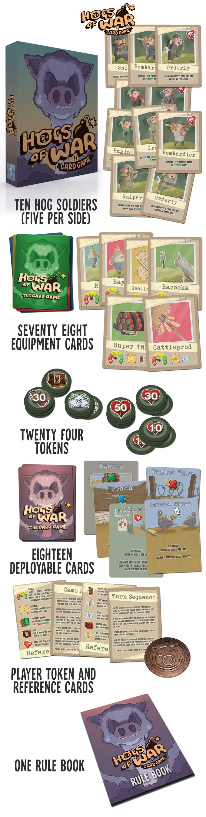 Hogs Of War Contents - Stone Sword Games