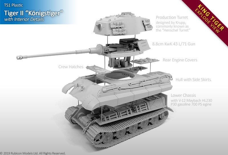 King Tiger Exploded view