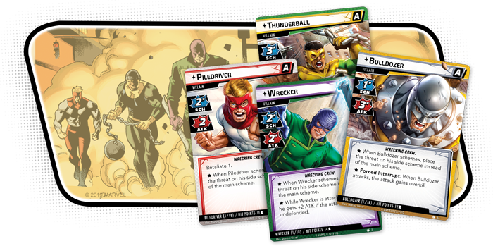 The Wrecking Crew Characters - FFG
