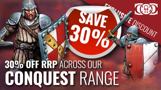 COG DEAL: Conquest Range 30% OFF RRP