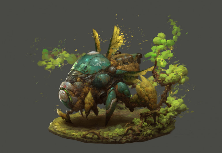 Check out this little guy (source: https://www.artstation.com/artwork/2xnr8g )