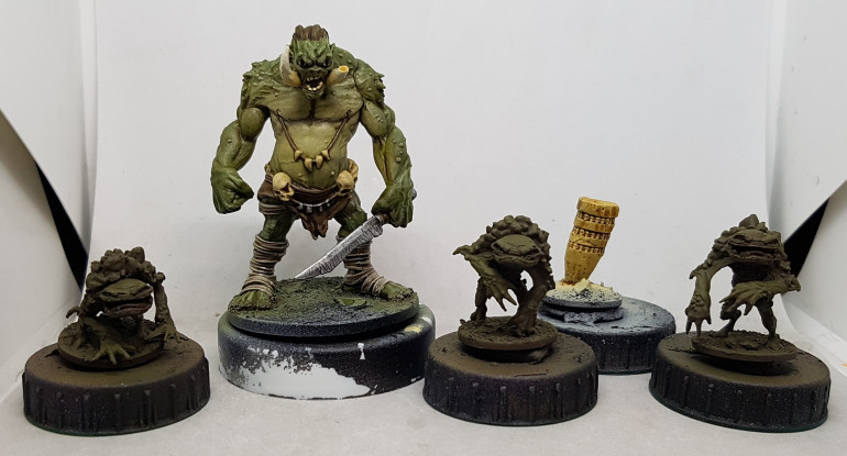 Half-Tusk is now finished I think, and I'll start the froglodytes in the morning.  Then I think it's on to the undead.