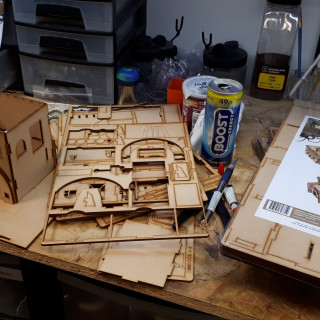 Assembling Some Knights of Dice Terrain