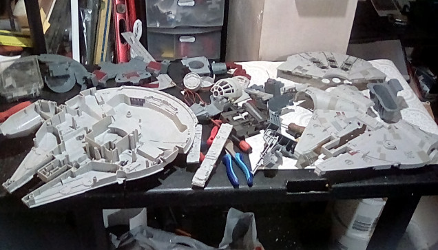 The Falcon put up a bit of a fight - some bits had been resin glued together which I suspect had been a home repair.