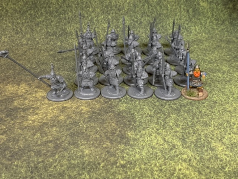 I built 24 spearmen and one banner bearer.