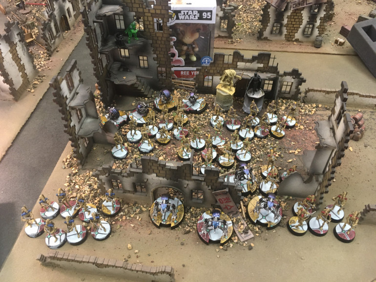Josh's Finished Army Resplendant With Base Toppers