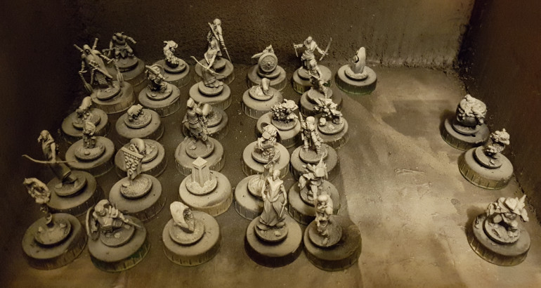 Tray 3 of primed minis.  I think that's everything