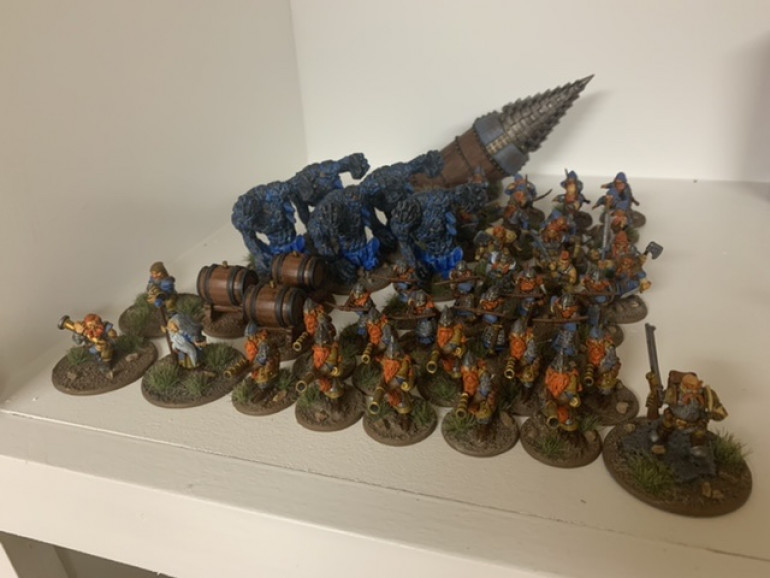 I'm still assembling the spearmen but here's a glamour shot of everything finished to date.