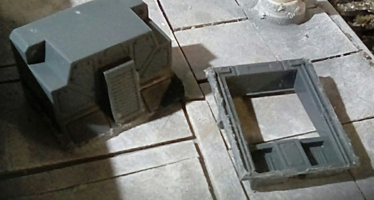But I manage to cut a computer bank and a doorway out of it using my dremel. They may come in useful later in this build, or just get out into my bits box to use later on something else.