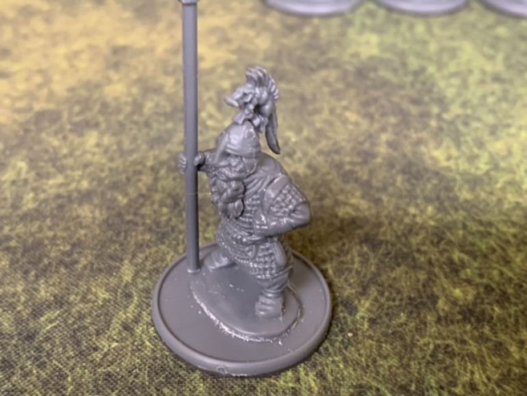 Saga doesn't use unit leaders but Warlords of Erehwon does. So these figures with the fancy helmet crest will be the unit leaders. I may add pennants to their spears as well but that's a few steps off.