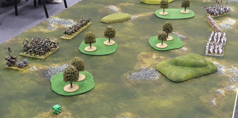 The table and deployment for game 1
