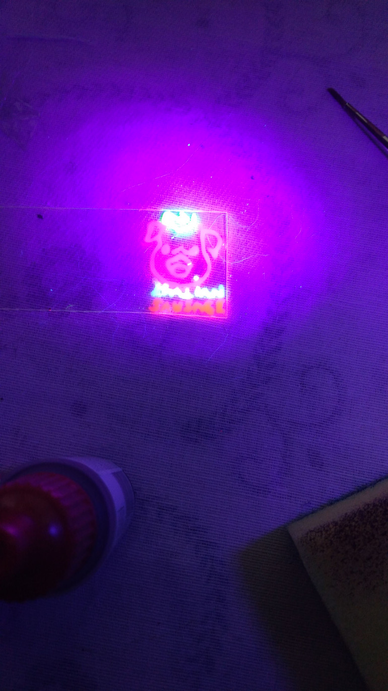 All bought from OTT store, paints and the ultraviolet light
