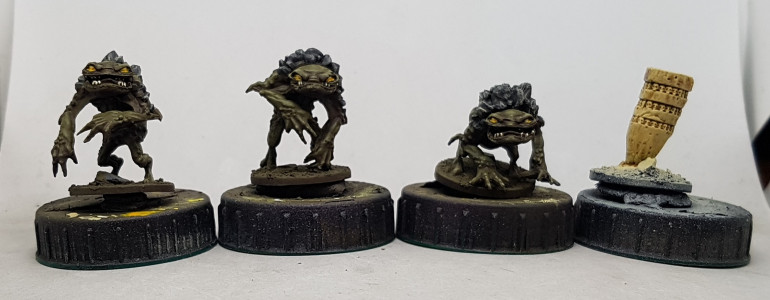 Halftusk's Froglodytes all finished.  Thats warband 5 of 15 finished