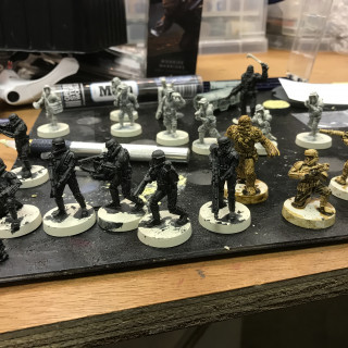 More Models On The Painting Table