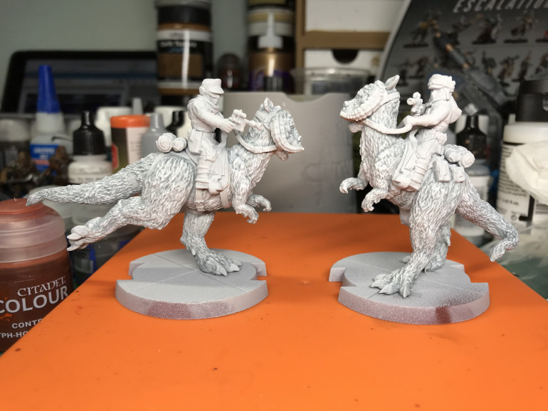 The fur is dry brushed white