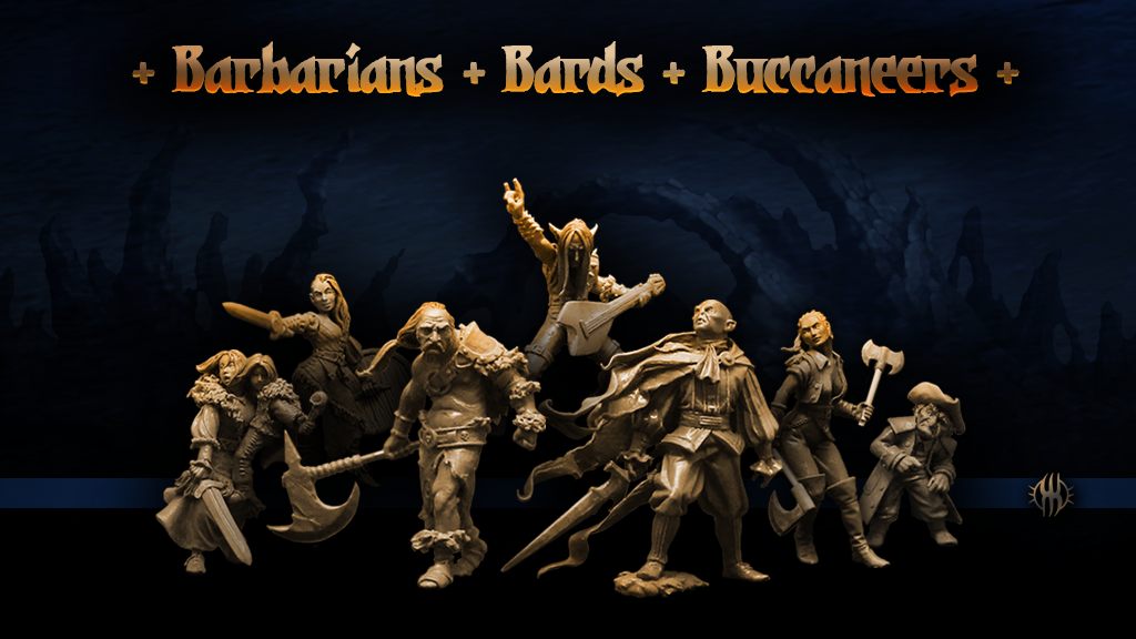 Barbarians Bards & Bucaneers - Westfalia Miniatures