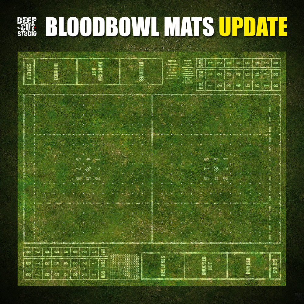 Blood Bowl Mats - Deep Cut Studio